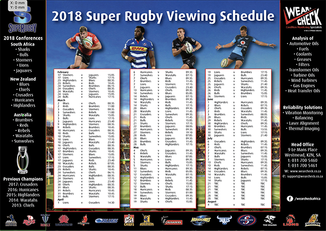 2018 Super Rugby Fixtures ScreenShot 2