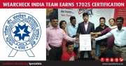 WearCheck India team earns 17025 certification