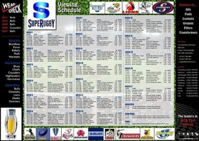 Super 15 viewing schedule