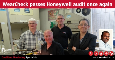 WearCheck passes Honeywell audit once again