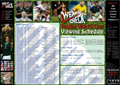 Rugby World Cup fixtures